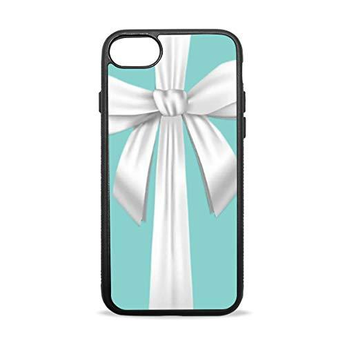 iPhone 7 Plus/8 Plus Case, Ultra Soft TPU Rubber Blue Tiffany Box Phone Case Cover for iPhone 7 Plus/8 Plus 5.5