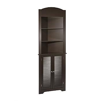 Image of RiverRidge Ellsworth Collection Tall Corner Cabinet, Espresso Home and Kitchen