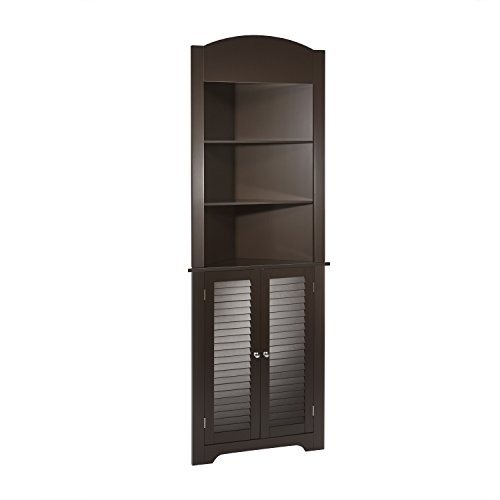 RiverRidge Ellsworth Collection Tall Corner Cabinet, Espresso (Corner Bar Cabinet White)