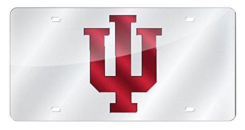 Hoosiers Metal Indiana (Rico Industries NCAA Indiana Hoosiers Laser Inlaid Metal License Plate Tag)