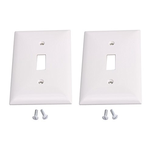 Yibuy 2 Pieces Plastic 1-Gang Toggle Light Switch Wall Plate
