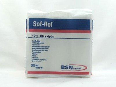 (BSN 9033 3 in. x 4 yard Sof-Rol Cast Padding Synthetic Rayon, 12 Rolls per Bag)