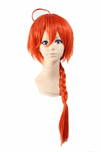Cosplay Wig Orange Wig Long Orange Layered Wig gintama Wig kamui Wigs
