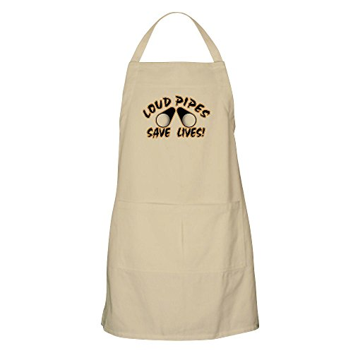 CafePress - Loud Pipes BBQ Apron - Kitchen Apron with Pockets, Grilling Apron, Baking Apron Daytona Pocket Bike