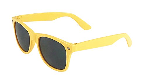 Big Kids Boys Girls 45mm Neon Wayfarer Ages 6 - 12 (Yellow, - Sunglasses Neon Kids