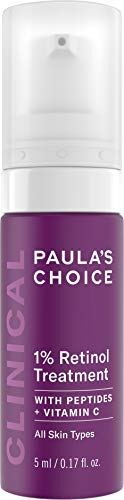 Paula's Choice CLINICAL 1% Retinol Treatment Cream with Peptides, Vitamin C & Licorice Extract, Anti-Aging & Wrinkles, Travel Size