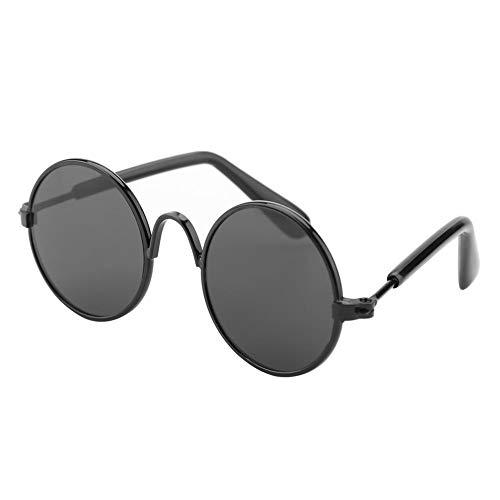 Qiterr Fashion Cute Funny Pet Sunglasses Photo Prop Fashion Costume for Cats Dogs(Black Frame+Black Glass) -