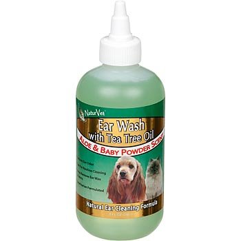 NaturVet Ear Wash with Tea Tree Oil for Pets, My Pet Supplies