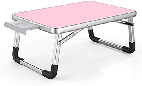 ノートパソコンのベッド表朝食トレイ、折り畳み式のラップトップラップ立ちデスクラップデスク折り畳み式の朝食コーヒートレイノートブックスタンドにサービスを提供,ピンク