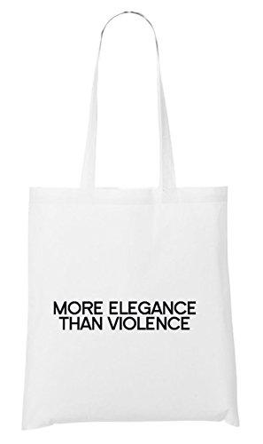 More Elegance Than Violence Bag White