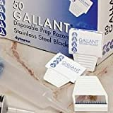 Disposable Gallant Prep Razor, Individually Foil-Packed, 250/cs