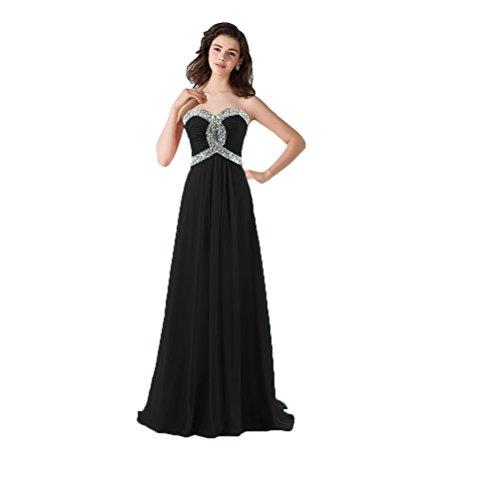 Vimans -  Vestito  - linea ad a - Donna nero 46