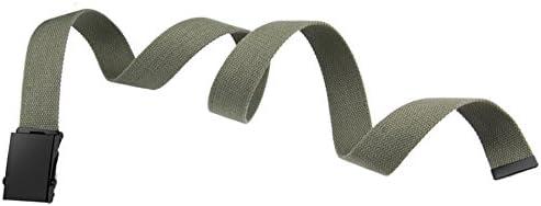 ベルト キャンバス調整可能 男女兼用 自動バックルシンプル カジュアル スムースバックル ベルト 120CM*3.8CM