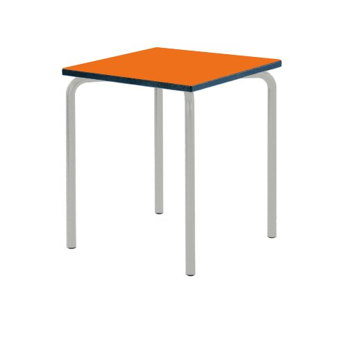 metalliform equpr66psbl53lgorange Flame Gleichung Tisch mit duraform PU Blau Rand orange flame