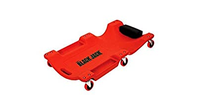 "Torin Jacks 40"" Compact Plastic Creeper With 6 Wheels, Gives Comfort for Working Under Vehicles"