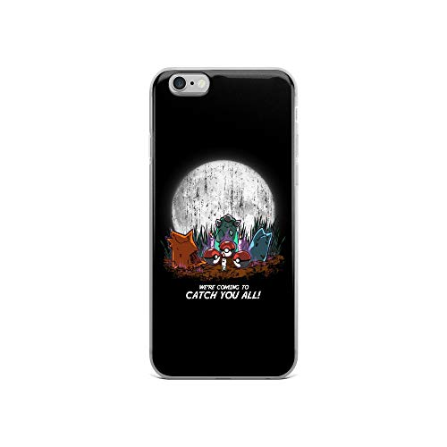 iPhone 6/6s Case Anti-Scratch Gamer Video Game Transparent Cases Cover Zombie PokÃmon Uprising Perfect for Halloween Gaming Computer Crystal Clear