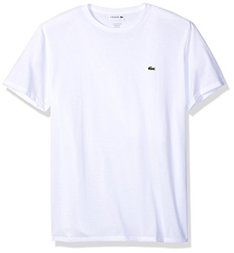 - Lacoste Men's Short Sleeve Jersey Pima Regular Fit Crewneck T-Shirt, TH6709-51, White Medium