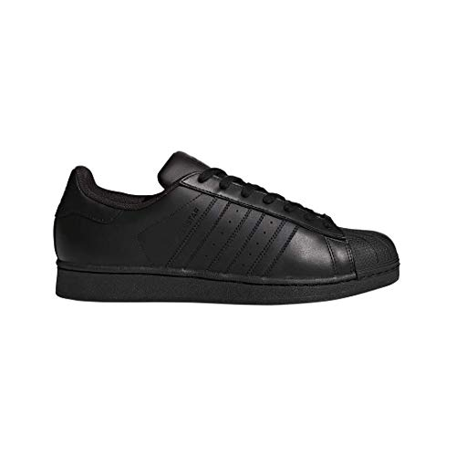 adidas Originals Men's Superstar Casual Sneaker, Black/Black/Black, 12 M US