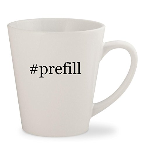 #prefill - White Hashtag 12oz Ceramic Latte Mug Cup