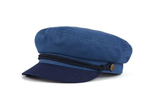 Brixton Men's Fiddler Cap, Blue/Dark Navy, XS