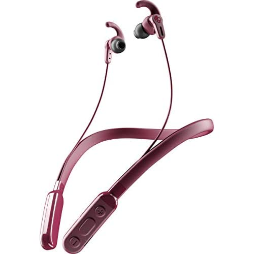 LD Skullcandy Inkd Plus Active Wireless in Earphone with Mic Moab Red Black