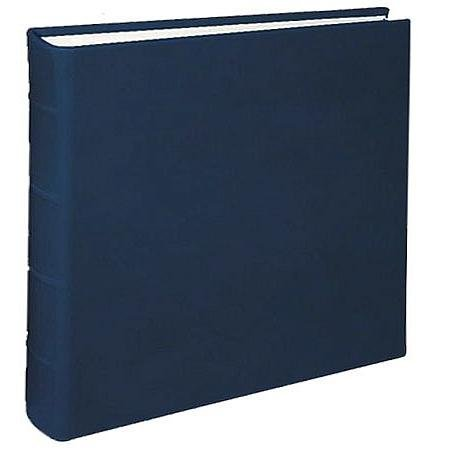 Large Genuine Italian Leather Bound Album,100 Pages, Photo Squares Included, 13-1/8'' x 13'', Blue