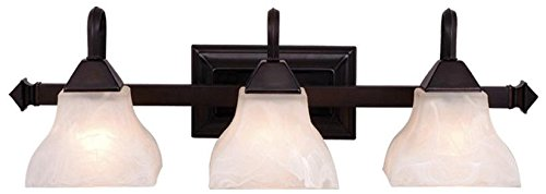 Vaxcel VL26303OBB Cardiff 3 Light Vanity Light, Oil Burnished Bronze Finish