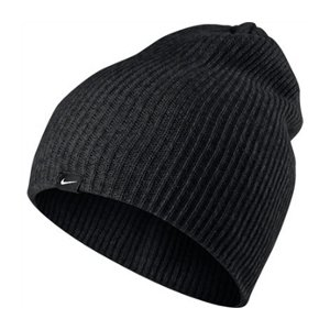 ... discount code for nike heather knit beanie unique size wool hat black  woman e0f07 36e0b 93c1ed245b0