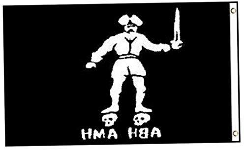 Kaputar Black Bart Roger Pirate Flag 3x5ft Poly | Model FLG - 6375