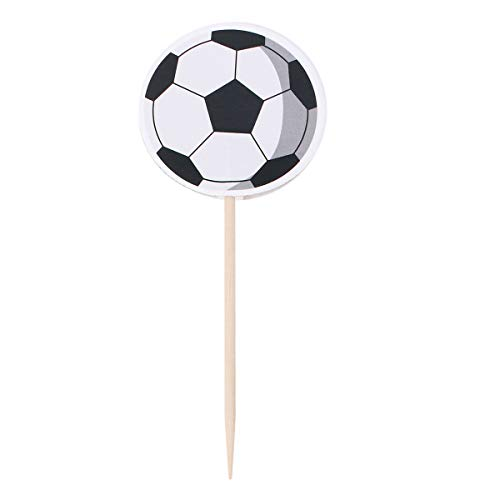 BESTOYARD Football Picks Cupcake Toppers Soccer Theme Party Decoration Supplies for Cake Dessert 72 Pcs