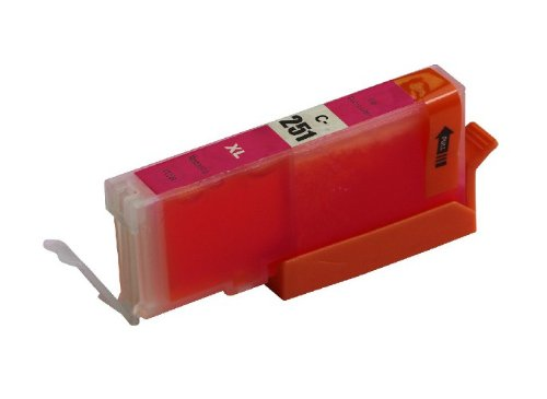 ink4work© CLI-251XL Magenta Compatible Ink Cartridge for Pixma IP7220, MG5420, MG6320, MX722, MX922