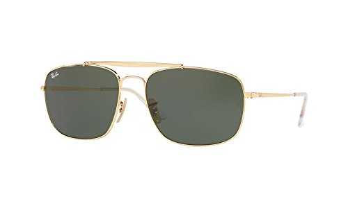 Ray-Ban Men's Steel Man Sungkass Square Sunglasses, Gold, 60 - 60mm Ban Ray