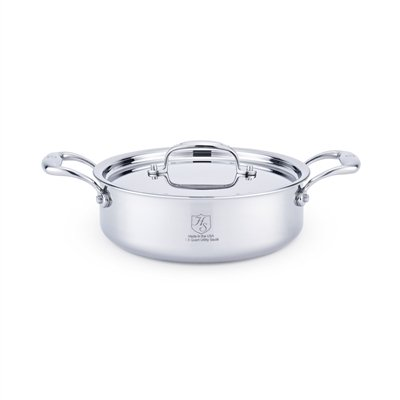 American Clad 7-ply Stainless 2.5 Qt Sauteuse w/Lid