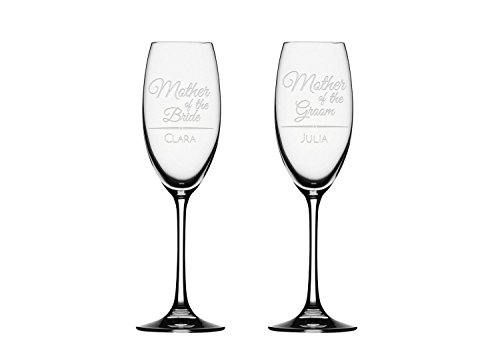 2x Champagne Flute, Mother of the bride, Mother of the groom Champagne Glass, Personalized Toasting Flute Glasses,Wedding Gifts
