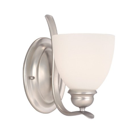1l Vanity Light (Vaxcel Lighting AL-VLU001BN Avalon 1L Vanity Light, Brushed Nickel Finish with Frosted Opal Glass)