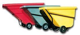 C.R. Daniels 520211 Polyethylene Tilt Truck Hinged Lid, Fits 1 yd. Truck, 68'' x 32'', Gray