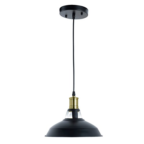 Light Society Danica Pendant Light, Matte Black Shade With