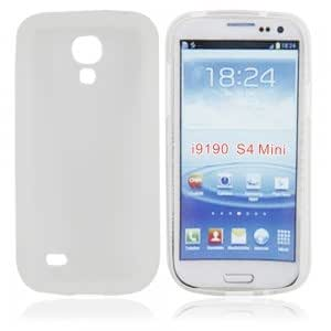 Matte Protective Case with TPU Frame for Samsung i9190 Transparent White