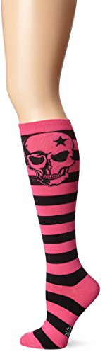 Sock It to Me Pink Skull Knee High Socks,One Size Fits Most - Pink Skull Knee Socks