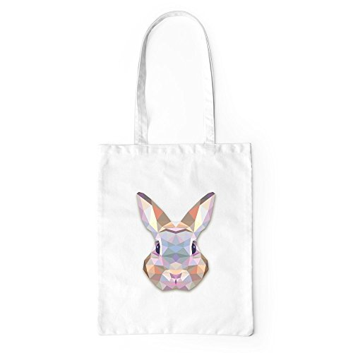 Tote Lover Bunny Rabbit Bag Beach Canvas Gym Geometric White Gift Shopping nq56IgSSx