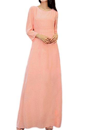 4088d1aa74 Damen elegante Halbarm Maxi Tunikakleid Pink QzBwnwrA - nixon.tim ...