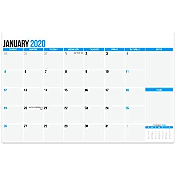 SplightPrints 2020 Large Magnetic Calendar Pad for Refrigerator, January 2020 to December 2020, 17 x 11 Inches, Thick Monthly Calendar Paper, Strong Fridge Magnets (Large 12 Months)
