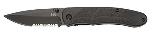 Benchmade HK Knives P30 Assist Serrated/Black Combo Edge Knife