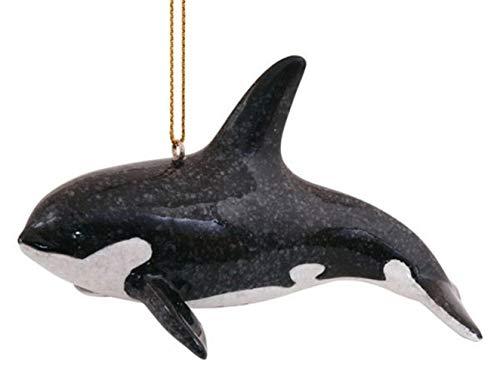 S&C Sea Life Killer Whale Orca Dolphin Hanging Christmas Ornament   Nautical Coastal Beach Decor Tree Decorations   Marine Science Ocean Gifts for Men Women