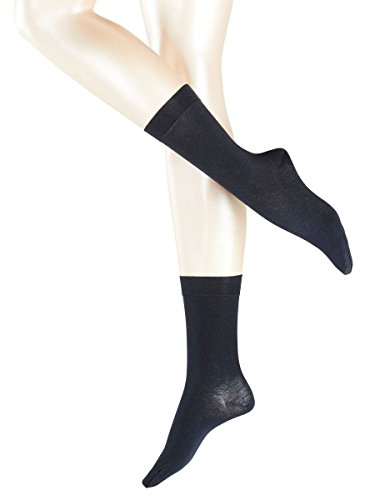 Falke Womens Sensual Cashmere Midcalf Socks – Navy – Medium/Large