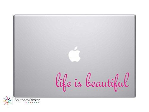 #3 Life Is Beautiful Text Vinyl Car Sticker Silhouette Keypa