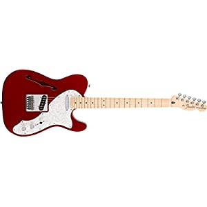 Fender 0147602309 Deluxe Telecaster Thinline Maple Fingerboard Electric Guitar – Candy Apple Red