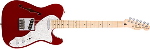 Fender Deluxe Telecaster Thinline Electric Guitar - Maple Fingerboard - Candy Apple - Telecaster Thinline