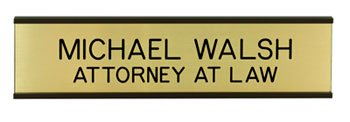 Personalized Nameplate with Wall Holder