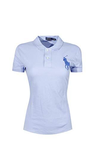 (Polo Ralph Lauren Womens Skinny Big Pony Polo (Medium, Sky Blue (Blue Pony)))